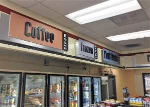 custom indoor retail signs