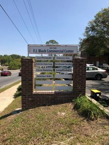 Tenant Signs monument tenant outdoor brick 225x300