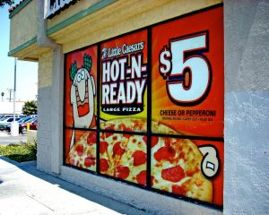 Retail Signs promotional window vinyl 300x240